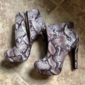 Mossimo Platform Snake Print Boots